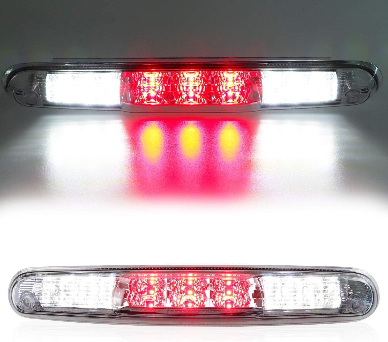 Red 3rd Third Brake Light for 07-13 Chevy Silverado//GMC Sierra 1500 2500HD 3500HD Cargo Light LED High Mount Lamp Tail Light