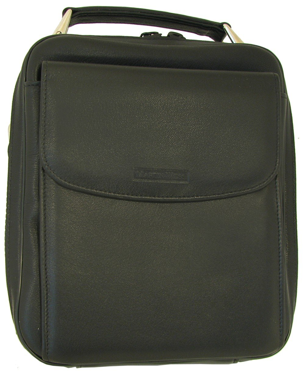 Martin Wess Germany ''Lea'' Soft Lamb Nappa Leather 6 Pipe Bag Case with Office Compartment