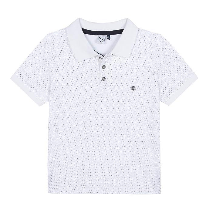 3 Pommes 3n11045 01 Polo Shirt, Blanco (White), 5-6 años (Talla ...