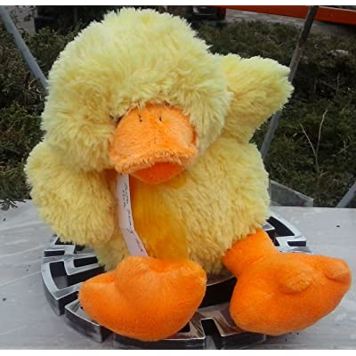 "Plush Yellow Quacking Easter Duck 10"" Tall Sitting: Toys & Games"