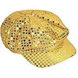 Gold Disco Paperboy Sequin Newsboy Hat