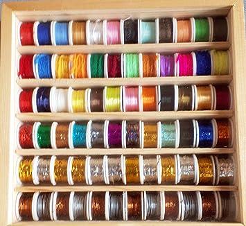 72 bobinas de hilo de seda, chisel, lana y otros hilos diferentes