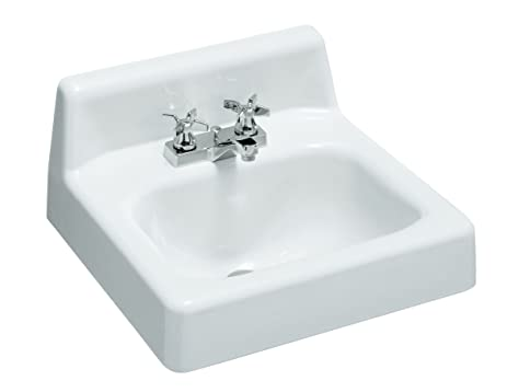 kohler k28610 hudson wallmount bathroom sink 19inch