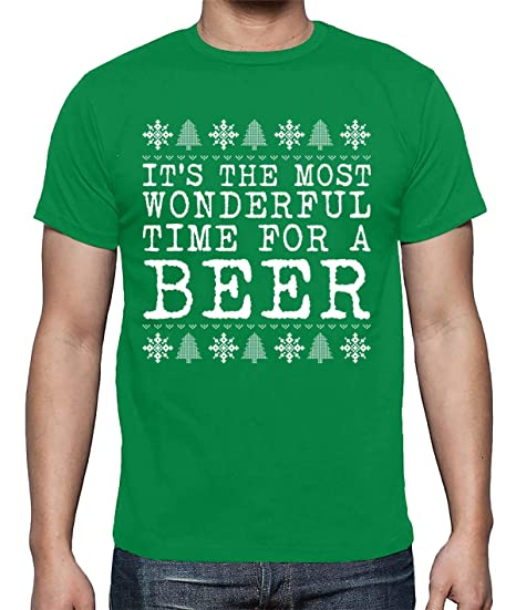 3228c9113 It's The Most Wonderful Time for A Beer Funny Ugly Christmas Parody Men's  Shirt: Amazon.ca: Clothing & Accessories