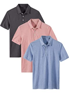 3d163ef39ba Amazon.com: ZITY Men's Polo Shirt Cool Quick-Dry Sweat-Wicking Color ...