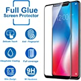 CareFone Knotyy Edge to Edge Fit 9H Hardness Bubble Free Anti-Scratch Crystal Clarity 5D Curved Screen Guard for Vivo V9 - Black