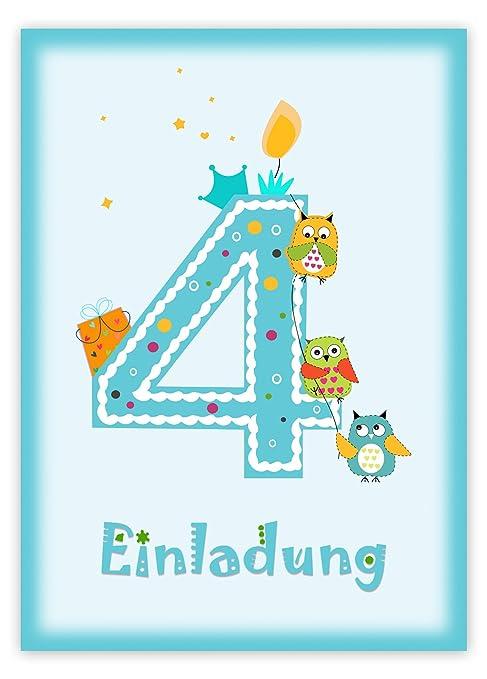 12 Einladungskarten Kindergeburtstag Zum 5 Geburtstag In Rosa Mit