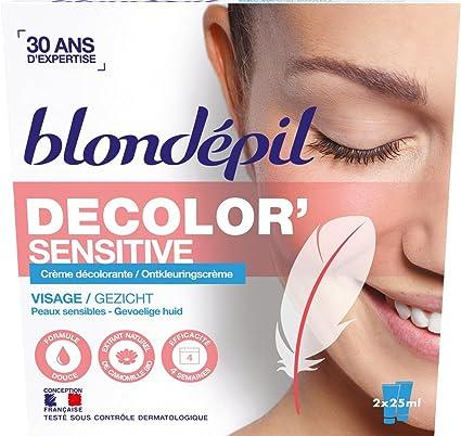 Blondépil Decolor crema blanqueadora sensible para la cara 2 x 25 ml SPBH (Groupe Berdoues)