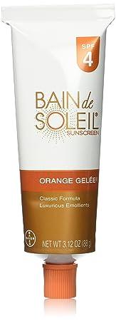 Bain De Soleil Spf 4 Orange Gelee 3.12 Ounce 92.3ml 3 Pack