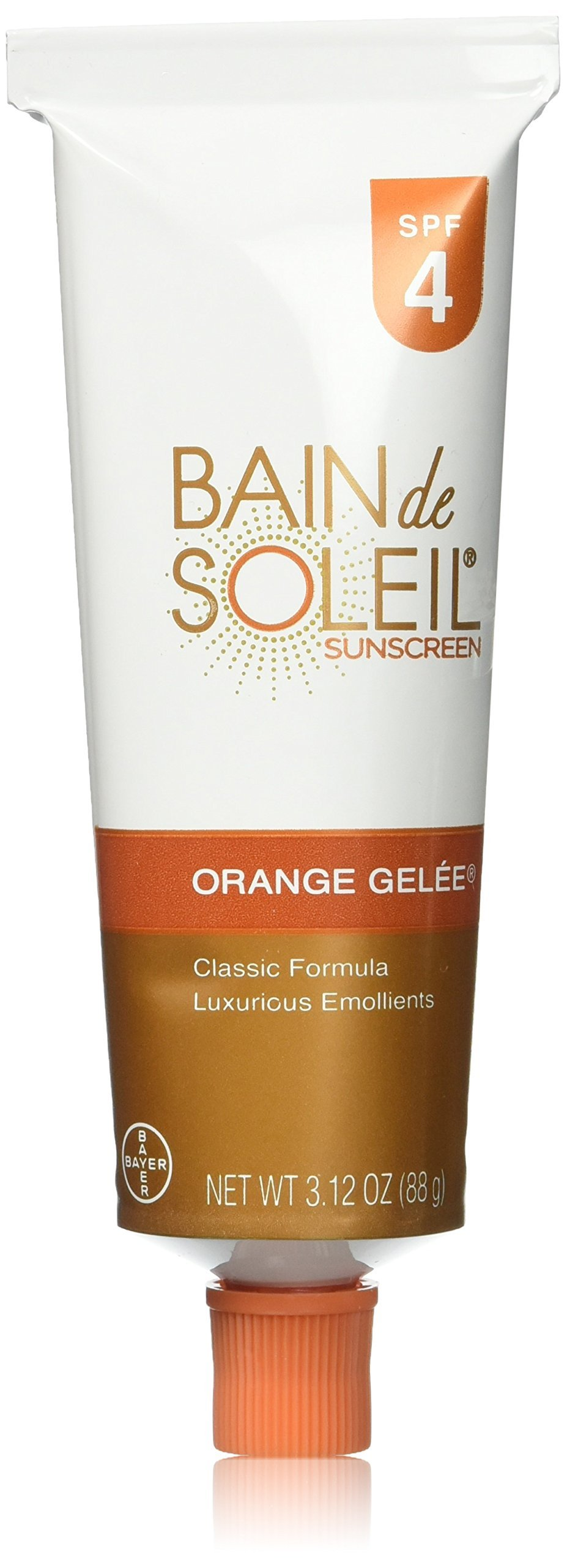 Bain De Soleil Spf#4 Orange Gelee 3.12 Ounce (92.3ml) (3 Pack)