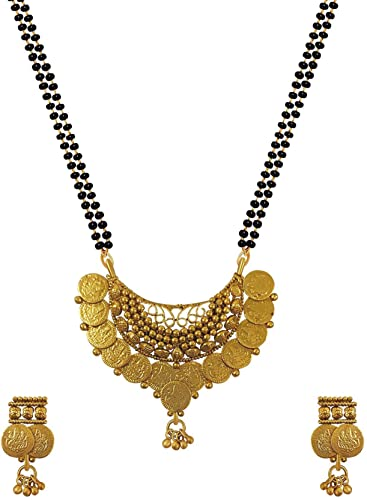 f706b6a477684 Aabhu Traditional Gold-Plated Laxmi Coin Ginni Mangalsutra Necklace ...