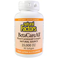 Natural Factors, BetaCareAll 25,000 IU, Antioxidant Support for Healthy Skin, Vision...