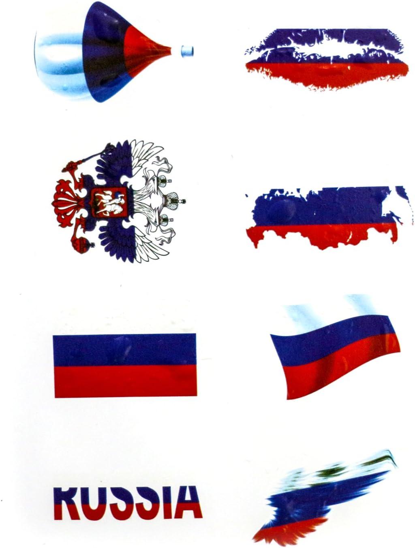 "1 3//8/"" x 1 3//4/"" Flag of Russia sticker car decal Russian badge emblem vinyl"