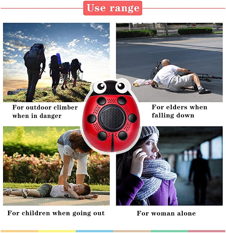 Kyson Personal Alarm Keychain130dB Self Defense SOS Emergency Human Voice Safety Sirens for Women/Elderly/Kids/Adventurer/Night Workers/Explorer with...