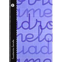 Lamela 99-N - Cuaderno con espiral A4, folio, tapa dura, color azul, talla 80 páginas/ 3 mm