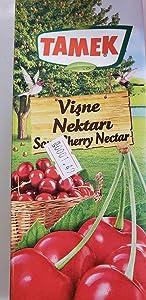 Tamek Sour Cherry Nectar Visne Suyu, 1L - 33.8 FL Oz. Pack of 3