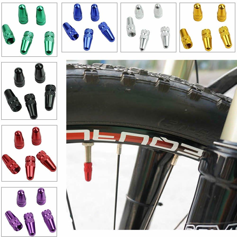LINGS SHOP 5Pcs Bicycle Bike Fixie MTB Presta Wheel Rim Tyre Stem Air Valve Caps Dust Cover