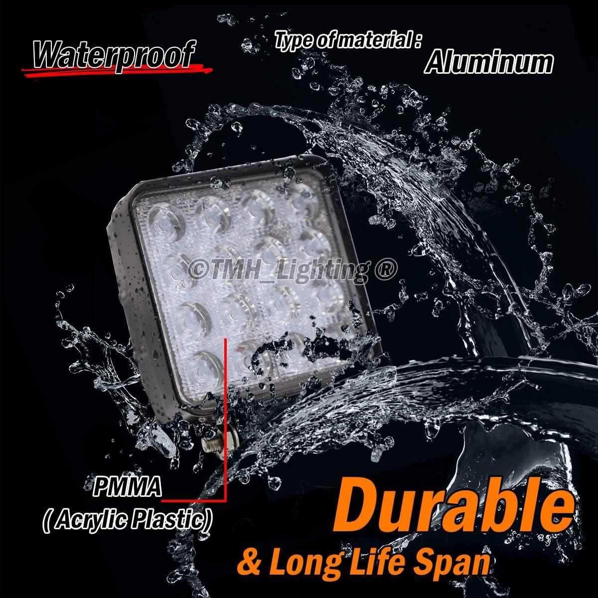Lot de 40000 Tmh® 40000 W Forme carrée 40000 degrés LED Lampe flood lampe de  travail Conduite lumière, Jeep, Off road, 4000 WD, 4000 x 4000, UTV, Sand Rail, VTT,  SUV, ...