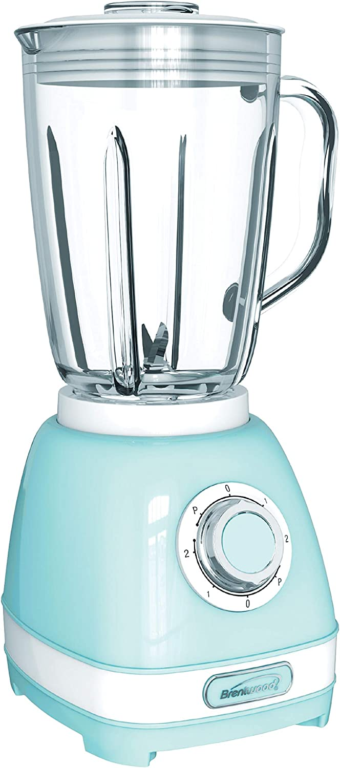 Brentwood JB-330BL 2-Speed Retro Blender with 50 Ounce Plastic Jar, Blue