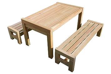 Amazing Sarina Mit Tisch X Bank Aus Holz Massiv Lrche Kindermbel In With  Holz Massiv
