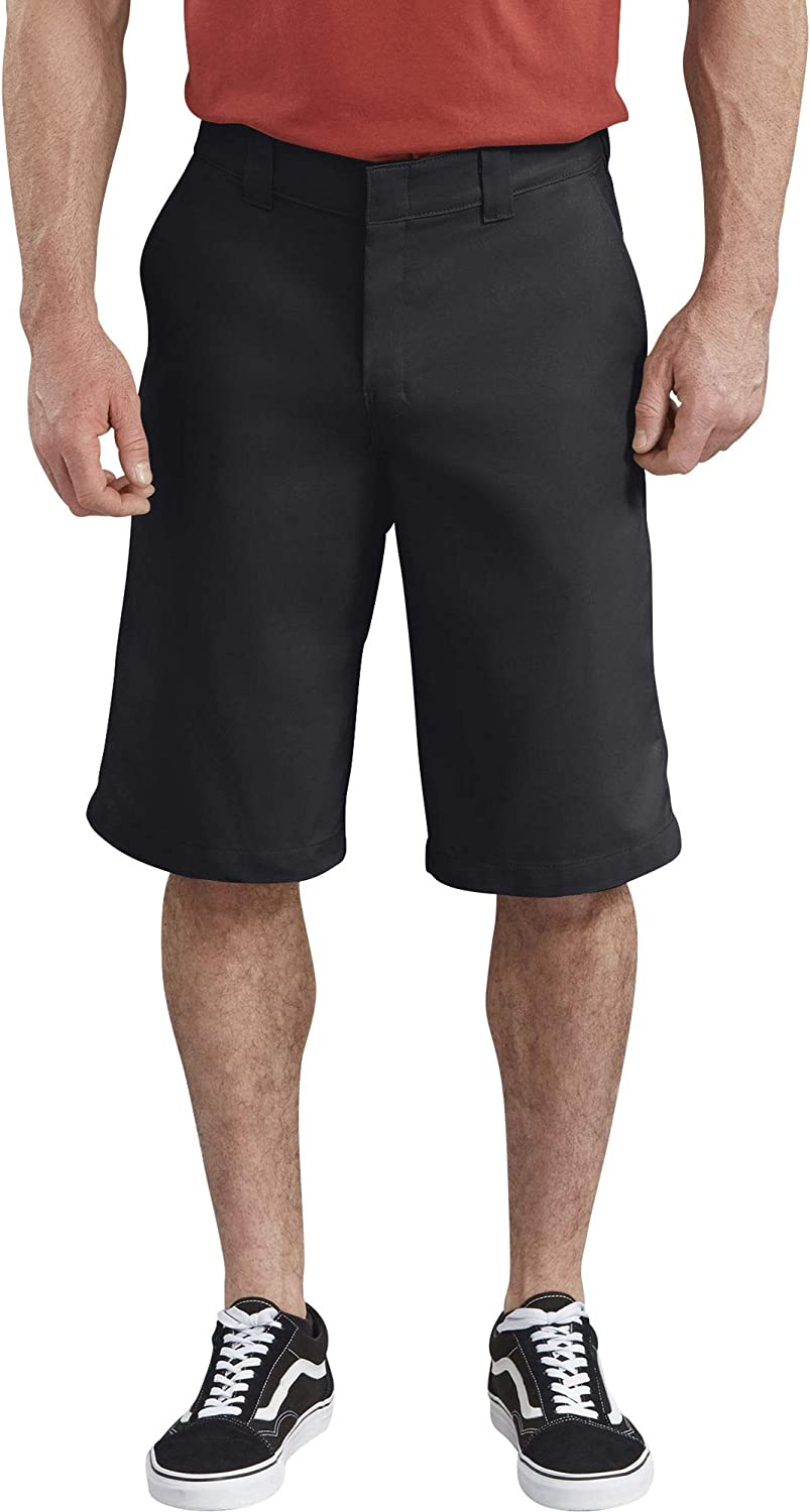 Dickies Mens 13 Inch Flex Flat Front Active Waist Short Work Utility Shorts