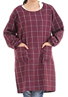 Hachigo ( ハチゴウ ) ポケット 付 シンプル デザイン 割烹着 エプロン スモック 男 女 兼用 ユニセックス メンズ レディース 長袖 ミドル ロング タイプ