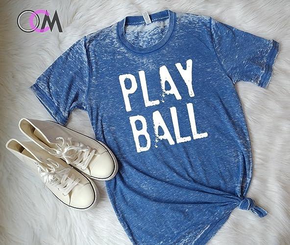 a635d0ba Image Unavailable. Image not available for. Color: Play Ball Shirt, Baseball  Shirt, baseball Mom ...