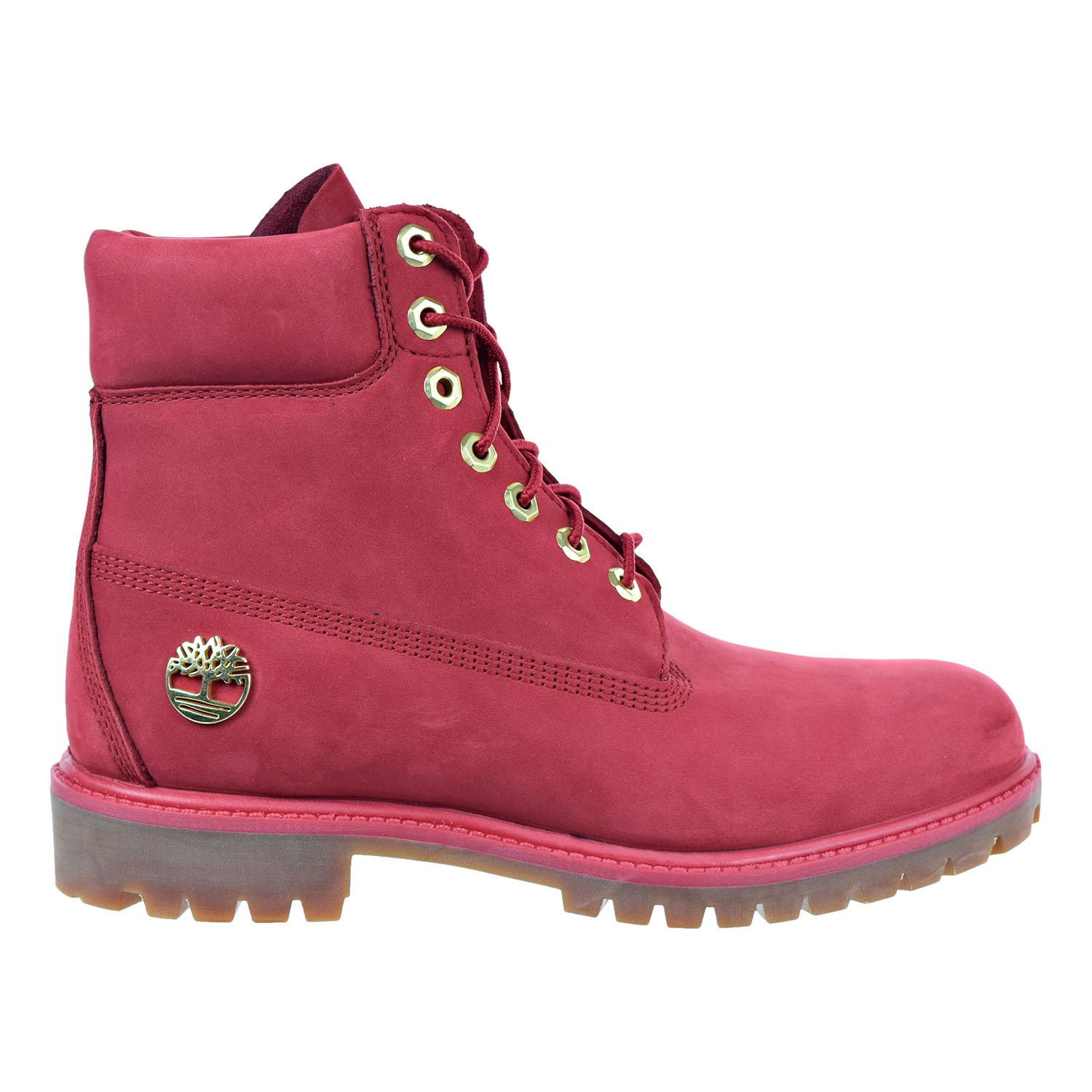 Timberland 6 Inch Premium Waterproof Men's Boots Red tb0a1jlt (11 D(M) US)