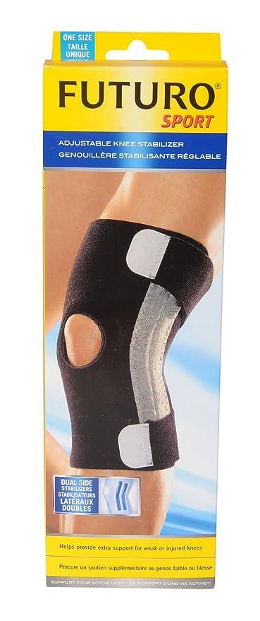 2c8e3e95de Futuro Sport Adjustable Knee Stabilizer, One-Size, Black, (47550ENFR):  Amazon.ca: Health & Personal Care
