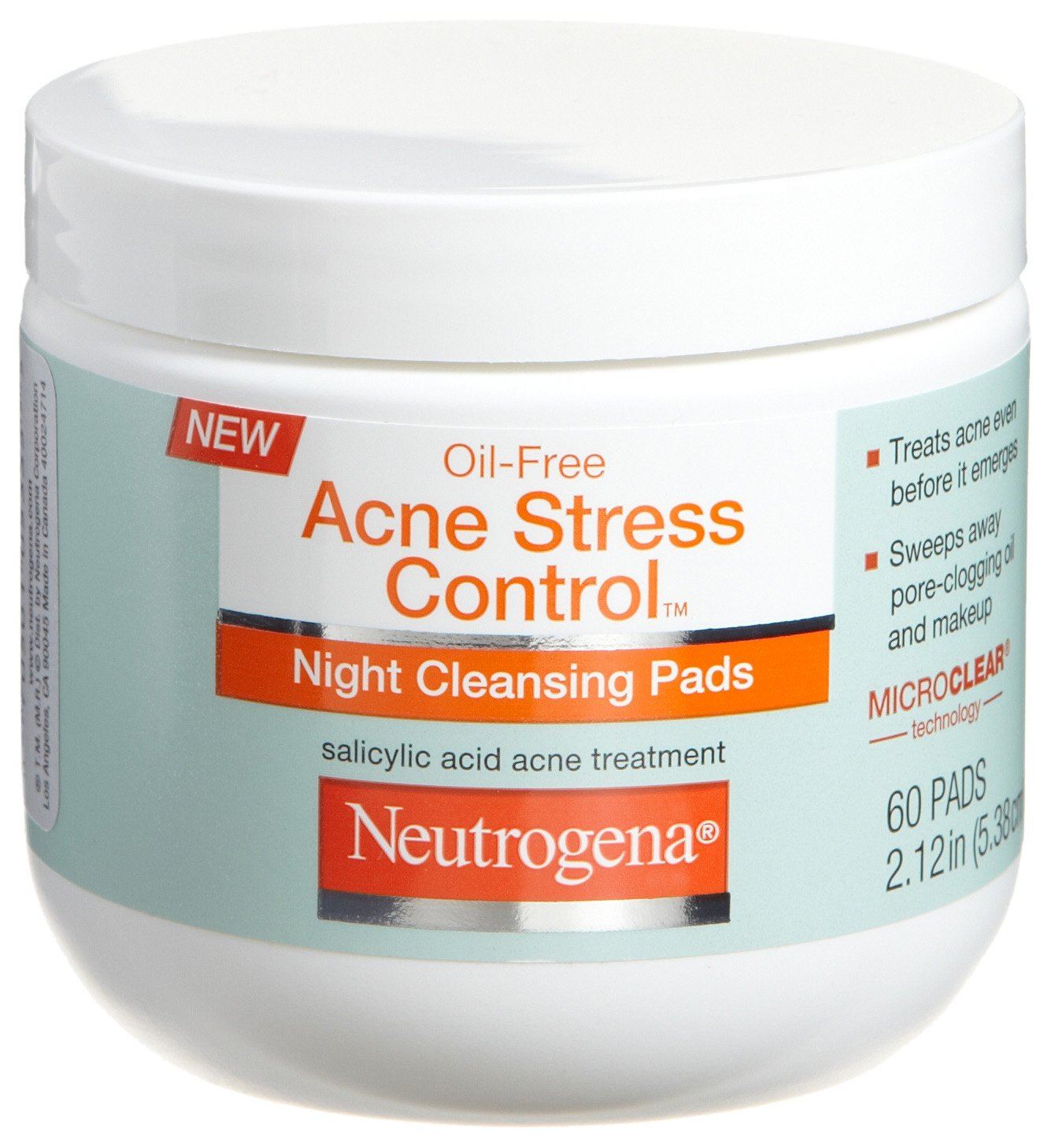 Neutrogena Acne Stress Control Night Cleansing Pads 60-Count (Pack of 3)