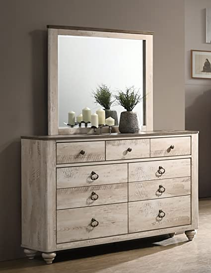 . Amazon com  Roundhill Furniture B132DM Imerland Contemporary White