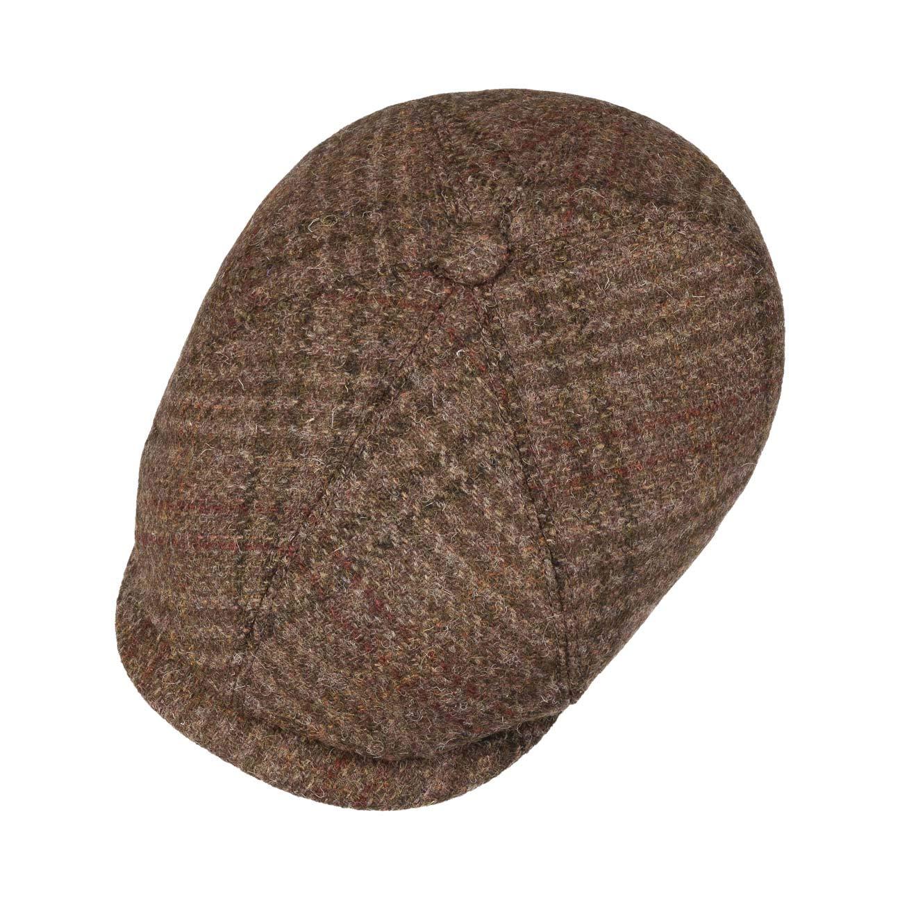 Fodera Autunno//Inverno Stetson Brooklin Virgin Wool Coppola Uomo Made in Germany Berretto Piatto Cappello Cappellino da con Visiera