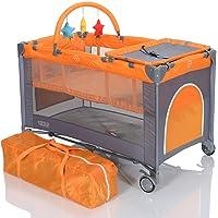 LCP Kids Lit de voyage enfant et Bébé Parapluie Pliant et Hauteur Matelas Réglable avec table langer