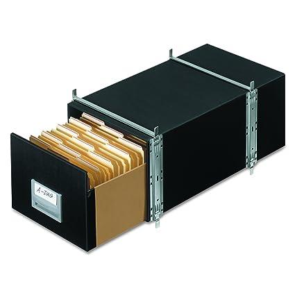Bankers Box 00511 STAXONSTEEL Storage Box Drawer, Letter, Steel Frame,  Black (Case