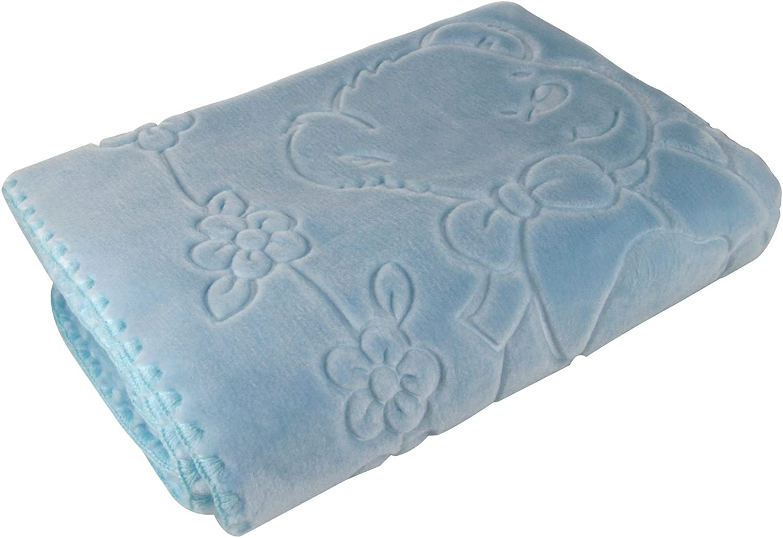 Bebé perla®, manta de bebé, Superior en relieve polar, muy suave, lavable a máquina, hecho en España, 80 x 110 cm, color azul: Amazon.es: Hogar