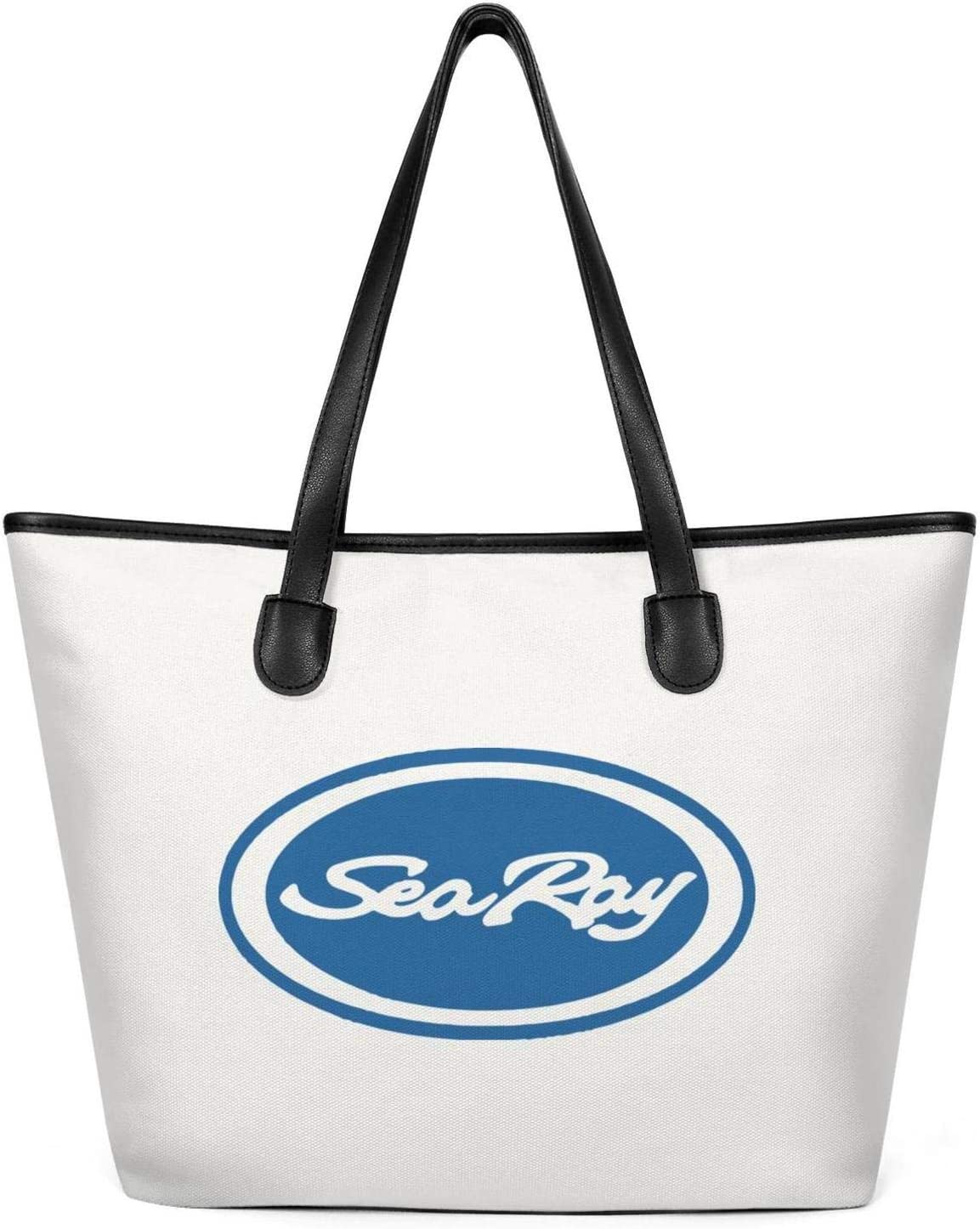 Cute Tote Bag for WomanSea-Ray-logo-srw Canvas Spacious and Roomy School Handbags