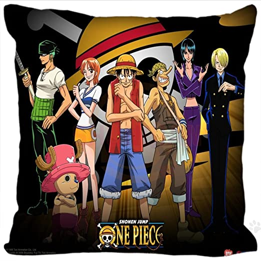 Funda para cojín del anime One Piece, 40 x 40 cm: Amazon.es ...