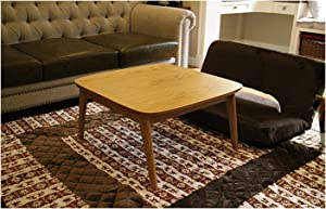 CharmingNight Wooden Kotatsu Table Natural Color for Home and Living Room Furniture Wood Kotatsu Heated Coffee Table Japanese Style Furniture Creativity