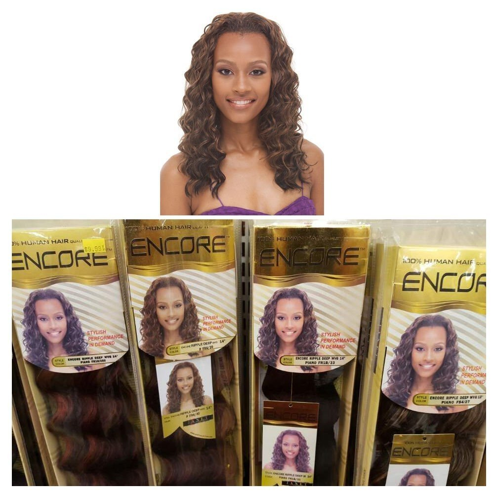 Amazon Janet Collection Human Hair Blend Weave Encore Ripple