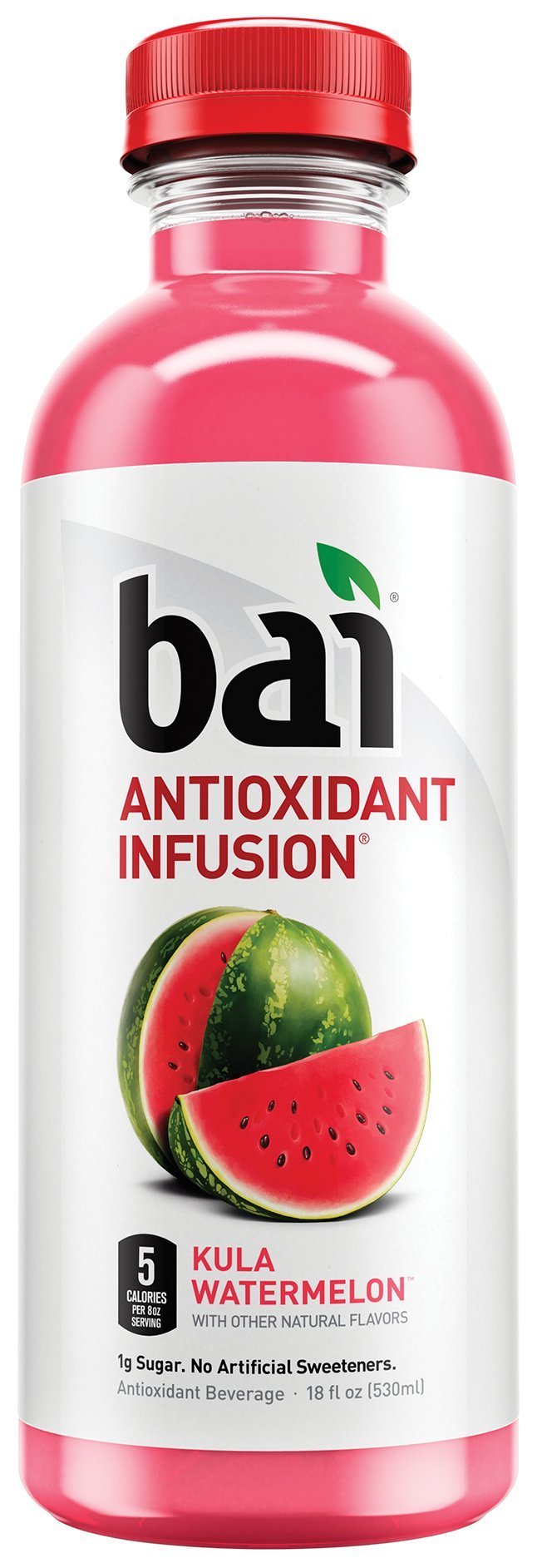 Bai Kula Watermelon, Antioxidant Infused, Flavored Water Drink, 18 Fluid Ounce Bottles, 12 count