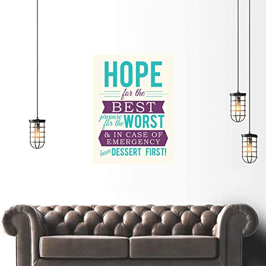 QUOTE TYPOGRAPH TEXT BEST WORST DESSERT FIRST LARGE ART PRINT POSTER LF1713