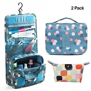 Amazon.com  Travel Portable Organizer Cosmetic Bag a1cd8c4b98794