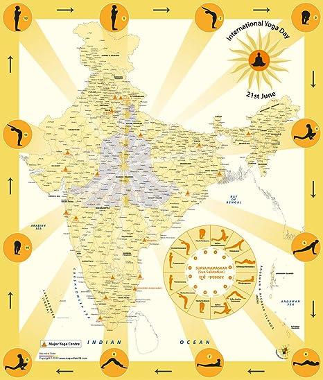 Amazon.com : International Yoga Day- Map of India [36