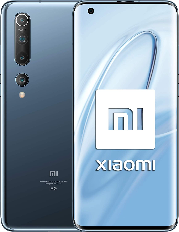 "Xiaomi Mi 10 (Pantalla FHD+ 6.67"", 8GB+128GB, Camara de 108MP, Snapdragon 865 5G, 4780mah con carga 30W, Android 10) Gris [Versión española]"
