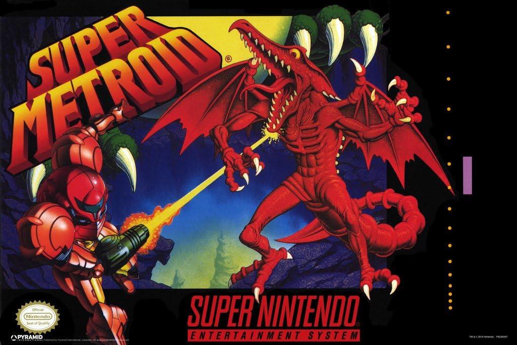 Pyramid America Super Metroid Video Game Gaming Cool Wall Decor Art Print Poster 18x12