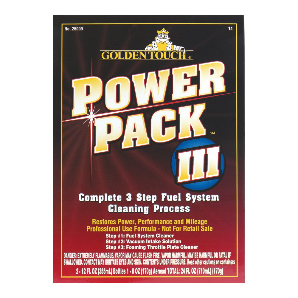 Golden Touch 25009-8PK Complete 3 Step Fuel System Cleaning Process - 24 fl. oz., (Pack of 8)