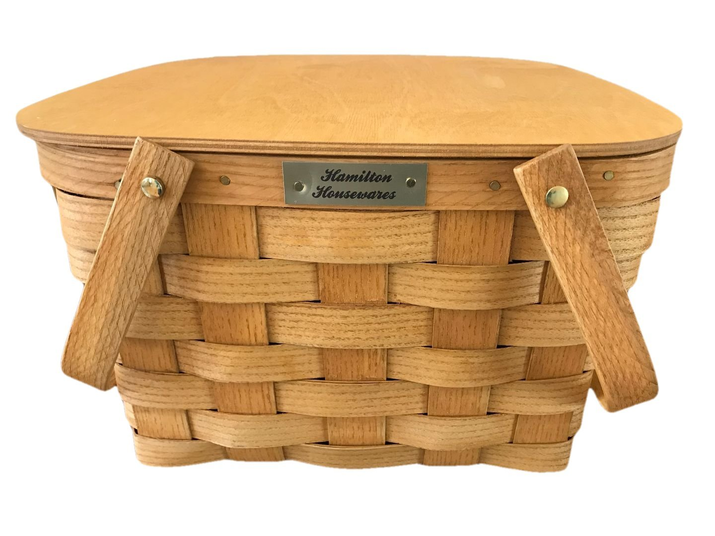 Hamilton Housewares Pie Carrier Basket - 2 Pie Basket with Lid and Tray - Made in USA