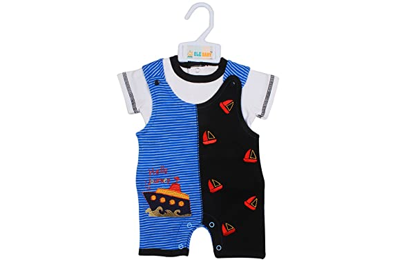 d29fb167b Ole Baby Soft Organic Cotton Vibrant Colored Adorable Romper and ...