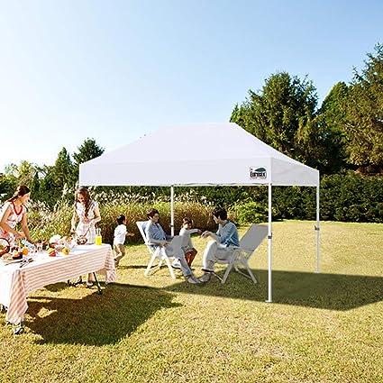 Eurmax Premium 10 x 15 Pop Up Canopy instantánea al Aire Libre ...