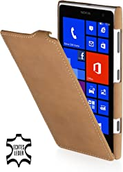 StilGut, esclusiva custodia UltraSlim in vera pelle per Nokia Lumia 1020, marrone old style
